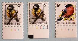 Mésange Charbonnière  8 F   Préo Pl 1 Et 2  +  Bouvreuil   Pl.1 - 1985-.. Birds (Buzin)