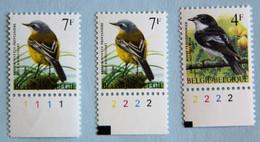 Bergeronnette 7F   (**)   N° De PL.  1 Et 2 + 4 F Pl  2 - 1985-.. Birds (Buzin)