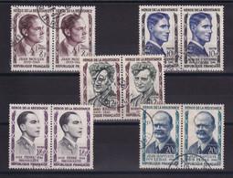 D 165 / LOT N° 1100/1104 OBL COTE 10€ - Verzamelingen