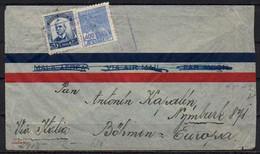 Brasil To Germany, 1940, Via LATI, Frankfurt Censor Tape - Covers & Documents
