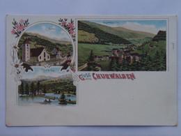 Switzerland 100 Churwalden General View Church Haid See Lake - GR Grisons