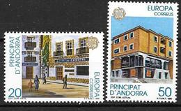 Andorre Espagnol 1990 N° 204/205 Neufs Europa établissements Postaux - 1990