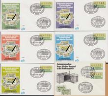ATM-BRD Ersttag 27.9.1982 Wiesbaden  5-135 Pfg. 1.Schalterwertzeichendrucker - Distributors
