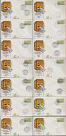 ATM-BRD Ersttag 2.1.1981 Versch. Orte 14 Briefe Michel 200 €  (15662 - Distributors
