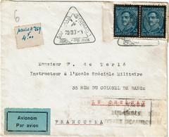 CTN67/ETR - YUGOSLAVIE LETTRE AVION AOÛT 1935 - Brieven En Documenten