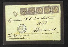 Carte Postale Musée De La Poste Colonies Générales Aigle Impérial Bande De 5 Sur Lettre Neuve  TB - Eagle And Crown