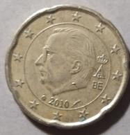 2010 - BELGIO  - MONETA IN EURO - DEL VALORE DI 20 CENTESIMI   - USATA - - Belgien