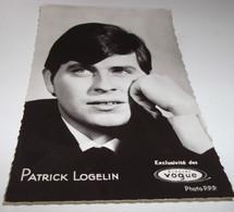 CARTE POSTALE DISQUE VOGUE...PATRICK LOGELIN - Cantantes Y Músicos