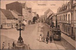 ! Alte Ansichtskarte, 1915, Schleswig. Lollfuss, Straßenbahn, Tram - Tranvía