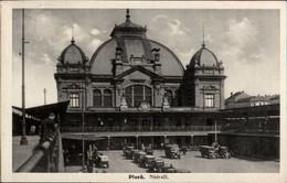 ! Alte Ansichtskarte, 1935, Bahnhof, Pilsen, Plzen, Nadrazil - Stations Without Trains