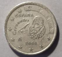 2000  - SPAGNA - MONETA IN EURO - DEL VALORE DI  50 CENTESIMI - USATA - - Spanien