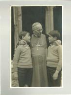 73 St Jean De Maurienne Carte Photo Mgr Grumel évêque Accueillant Les Deux Jeunes Croisés Du Film L'enfant De La Neige - Saint Jean De Maurienne