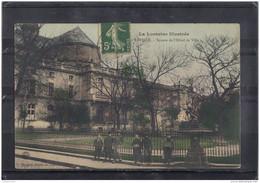 5406. LUNEVILLE . SQUARE DE L HOTEL DE VILLE . RECTO/VERSO. ANIME . ENFANTS. 1907 - Luneville