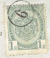 Rare ! Oblitération Facteur Sur Timbre COB N°81 (sur CPA Vive Ste-Anne Envoyée Vers Jolimont, Vers 1910) - Unclassified