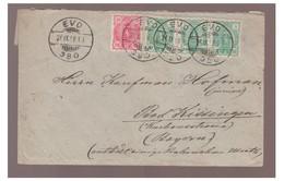 1898 --FINLANDE --Lettre De EVO Pour La BAVIERE--Brief EVO Für BAVARIA -- BAD KISSINGEN -- - Briefe U. Dokumente