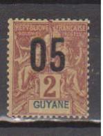 GUYANE       N°  YVERT  :    66  NEUF AVEC  CHARNIERES      ( CH  1/15 ) - Ongebruikt