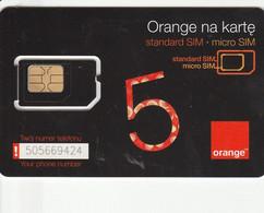 Poland - Orange Black 5 - GSM SIM  - Mint - Poland