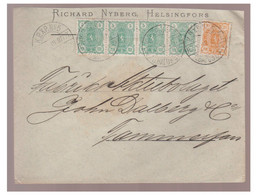 1897 --FINLANDE --Lettre De HELSINKI -- Poste Ferroviaire -- - Briefe U. Dokumente