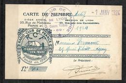 France Carte Illustrée De Membre Actif  Radio-Club De France 1924 Section De Lyon Cachets  B/TB Voir Scans  Soldé ! ! ! - Other