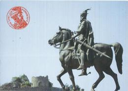 Macedonian New Postcard - Macedonian Monument - Skanderbeg / Skenderbej. Horse UNUSED POSTCARD - Turismo