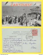 LOT 2 CPA 14 CABOURG  La Plage Très Très Animée - Peu Commune + La Terrasse 1905 - Cabourg