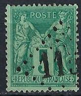 """FRANCE """"Sage"""":  Jour De L'An, Obl. GC 1153 - 1876-1898 Sage (Tipo II)"""