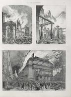 L'incendie De L'Opéra 1873 - Incendie Du Théâtre-Italien - Incendie De L'Opéra-Comique - Page Original 1900 - Documents Historiques