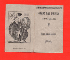 * * Grand Bal D'Hiver * * Rouen 1924 - Visiting Cards