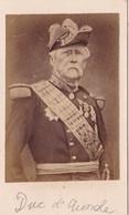 Photo Ancienne : C.D.V.  : Le Duc D'AUMALE : Photo - Teruel - Paris - Oud (voor 1900)