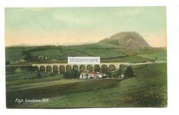 Loudoun Hill & Railway Viaduct (now Gone) - Old Ayrshire Postcard - Ayrshire