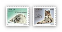 Lithuania.2021.Europa CEPT.Endangered National Wildlife.2 V. ** . - 2020