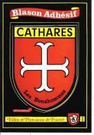 244 - CATHARES - BLASON ADHESIF - Languedoc-Roussillon