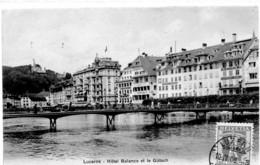 Etg Suisse Lucerne Hotel Balance Et Le Gütsch No4112 Ed Burgy EVT - Andere