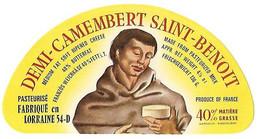 ETIQU.DEMI- CAMEMBERT St BENOIT 54-D DURAND MEURTHE Et MOSELLE - Cheese