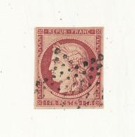 FRANCE 1849 - Cérès 1 Fr Carmin YT N° 6 ° Oblitéré étoile De Paris - Etat Aminci Voir Scan - Cote 1000€ - 1849-1850 Ceres