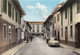 LONATE POZZOLO-INSEGNA=LAMBRETTA=-AUTO CAR VOITURE( FIAT 600)CARTOLINA VERA FOTO -VIAGGIATA IL 13-1-1965 - Varese