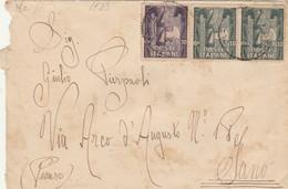 LETTERA 1923 C.10X2+30 ANNIV.MARCIA SU ROMA SIGILLO AL VERSO (HC976 - Marcofilía
