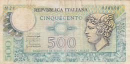 BANCONOTA ITALIA L.500 VF (HC1029 - 500 Liras