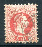 Austrian Levant 1867-83 - Lombardy & Venetia Currency - Coarse Print - 5s Carmine Used (SG 3) - Otros
