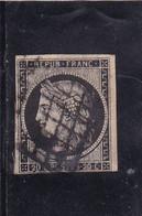 Yvert  Céres 3 Oblitération Grille - 1849-1850 Ceres