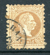 Austrian Levant 1867-83 - Lombardy & Venetia Currency - Coarse Print - 15s Brown Used (SG 5) - Other