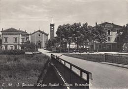 SAN GIOVANNI-REGGIO EMILIA-CHIESA PARROCCHIALE-CARTOLINA VERA FOTO -VIAGGIATA  IL 13-4-1956 - Reggio Nell'Emilia