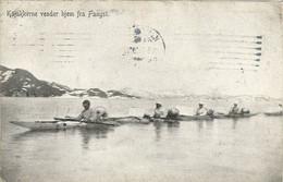 GROENLAND - KAJAKKERNE VENDER FRA FANGST - 1910 - Greenland