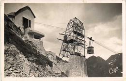 ARTOUSTE  Téléférique Arrivée De La Cabine à La Station Supérieure 1950m RV - Altri Comuni