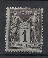 France - 1877 - N°Yv. 83 - Type Sage 1c Noir - Neuf Luxe ** / MNH / Postfrisch - 1876-1898 Sage (Type II)
