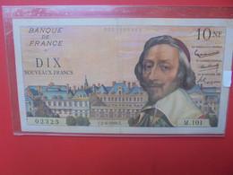 FRANCE 10 FRANCS 1960 CIRCULER (B.22) - 10 NF 1959-1963 ''Richelieu''