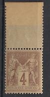 France - 1877 - N°Yv. 88a - Type Sage 4c Lilas Sur Azuré - Bord De Feuille - Neuf Luxe ** / MNH / Postfrisch - 1876-1898 Sage (Type II)