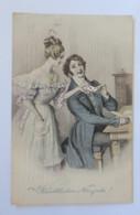 Neujahr, Frauen,Männer, Mode, Brief,   1909, Munk Vienne ♥ (38553) - Ohne Zuordnung