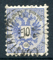 Austrian Levant 1883 Arms - 10s Blue Used (SG 17) - Other