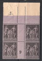 France - 1898 - N°Yv. 103 - Type Sage 10c Noir Type I - Bloc De 4 Millésimé 9 - Neuf Luxe ** / MNH / Postfrisch - 1898-1900 Sage (Tipo III)